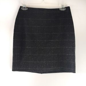 Banana Republic wool windowpane skirt